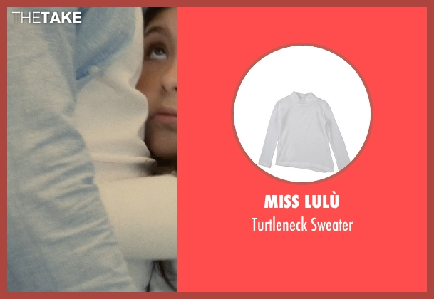 Miss Lulù white sweater from The Judge seen with Emma Tremblay (Lauren Palmer)