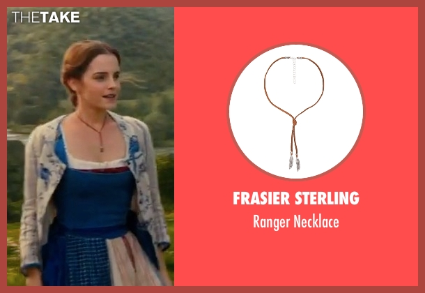 Frasier Sterling brown necklace from Beauty and the Beast seen with Emma Watson (Belle)