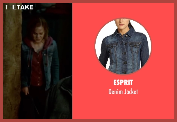 Esprit blue jacket from Harry Potter and the Deathly Hallows: Part 2 seen with Emma Watson (Hermione Granger)