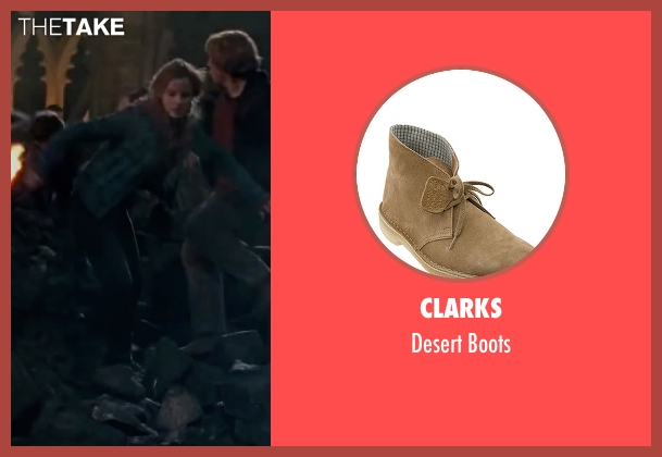 Clarks brown boots from Harry Potter and the Deathly Hallows: Part 2 seen with Emma Watson (Hermione Granger)