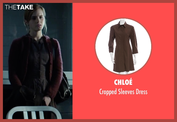 Chloé brown dress from Regression seen with Emma Watson (Angela Gray)