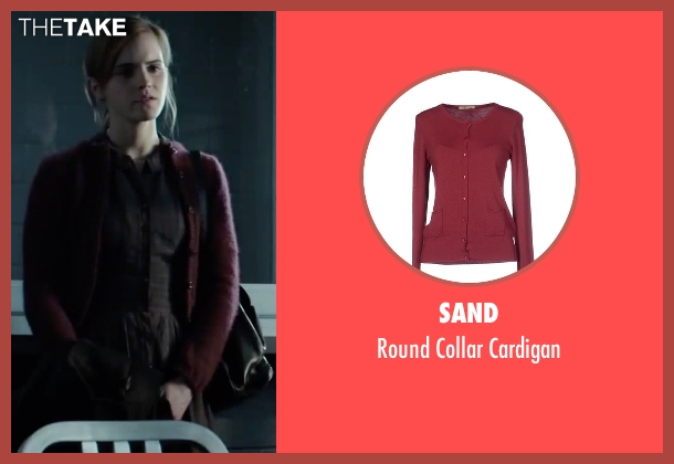 Sand cardigan from Regression seen with Emma Watson (Angela Gray)