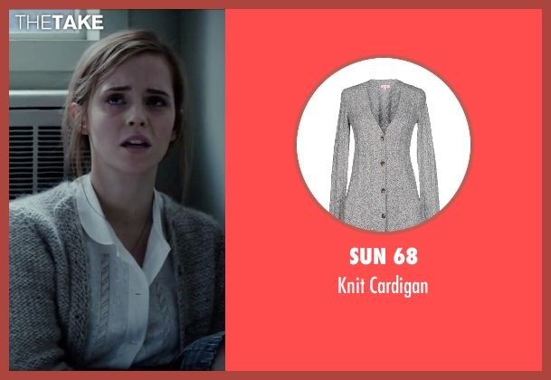 Sun 68 gray cardigan from Regression seen with Emma Watson (Angela Gray)