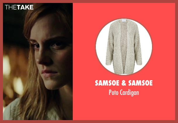 Samsoe & Samsoe white cardigan from Regression seen with Emma Watson (Angela Gray)