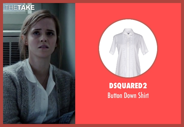 DSQUARED2 white shirt from Regression seen with Emma Watson (Angela Gray)