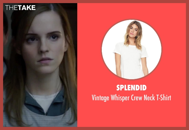 Splendid white t-shirt from Regression seen with Emma Watson (Angela Gray)