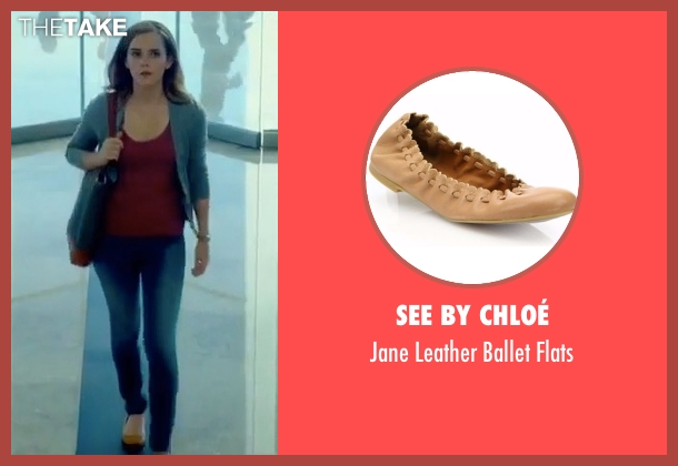 emma watson see by chlo jane leather ballet flats from. Black Bedroom Furniture Sets. Home Design Ideas