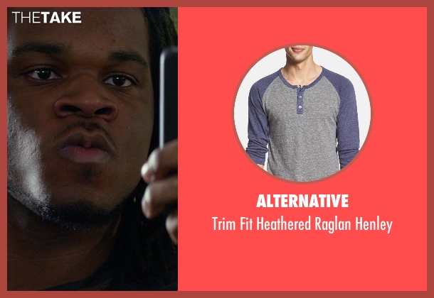 Alternative blue henley from Ride Along seen with Emmanuel Hudson (Market Shopper)
