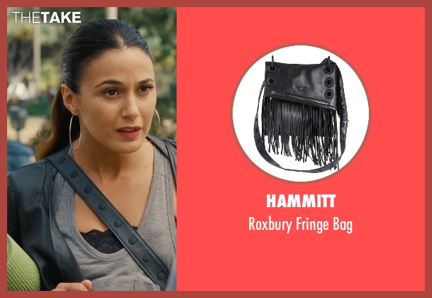 Hammitt black bag from Entourage seen with Emmanuelle Chriqui (Sloan)