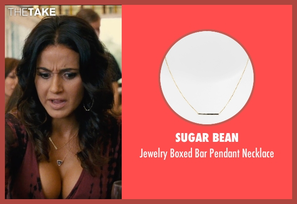 Sugar Bean gold necklace from Entourage seen with Emmanuelle Chriqui (Sloan)