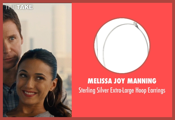 Melissa Joy Manning silver earrings from Entourage seen with Emmanuelle Chriqui (Sloan)