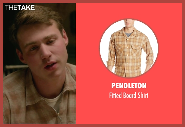 Pendleton beige shirt from Brooklyn seen with Emory Cohen (Tony)