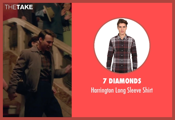 7 Diamonds brown shirt from Brooklyn seen with Emory Cohen (Tony)