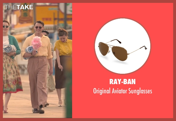 Ray-Ban brown sunglasses from Brooklyn seen with Emory Cohen (Tony)