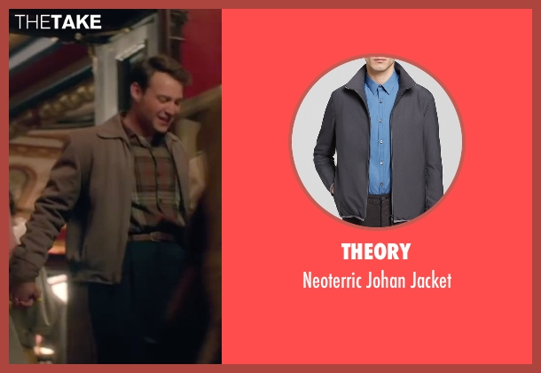 Theory gray jacket from Brooklyn seen with Emory Cohen (Tony)