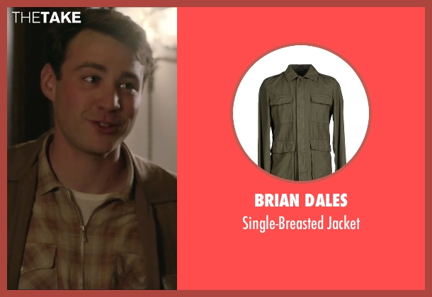 Brian Dales green jacket from Brooklyn seen with Emory Cohen (Tony)