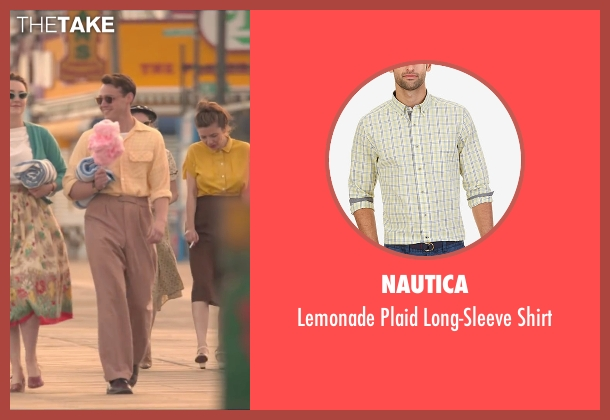 Nautica yellow shirt from Brooklyn seen with Emory Cohen (Tony)