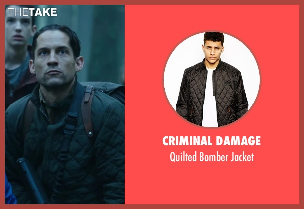 CRIMINAL DAMAGE black jacket from Dawn of the Planet of the Apes seen with Enrique Murciano (Unknown Character)