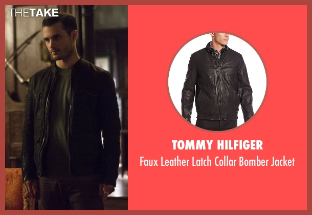 Tommy Hilfiger black jacket from The Vampire Diaries seen with Enzo (Michael Malarkey)