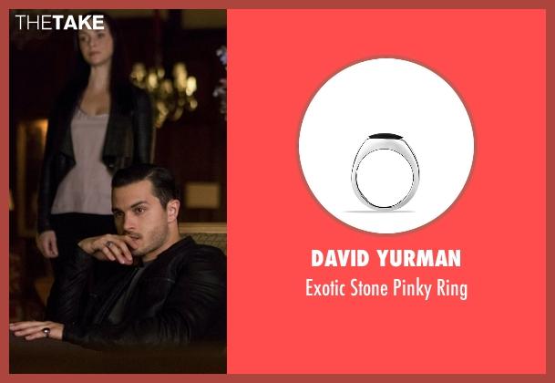 David Yurman black ring from The Vampire Diaries seen with Enzo (Michael Malarkey)