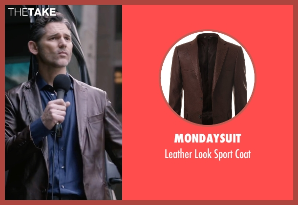 Mondaysuit  brown coat from Special Correspondents seen with Eric Bana (Frank Bonneville)