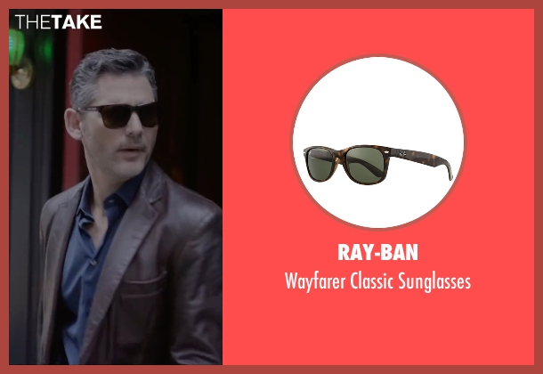 Ray-Ban sunglasses from Special Correspondents seen with Eric Bana (Frank Bonneville)