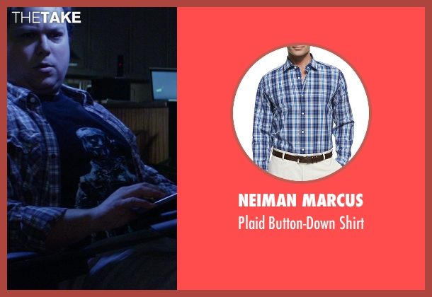 Neiman Marcus blue shirt from Ride Along seen with Eric Goins (Assface23)