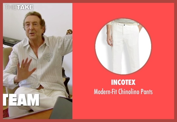 Incotex white pants from Absolutely Anything seen with Eric Idle (Extraterrestrial (voice))