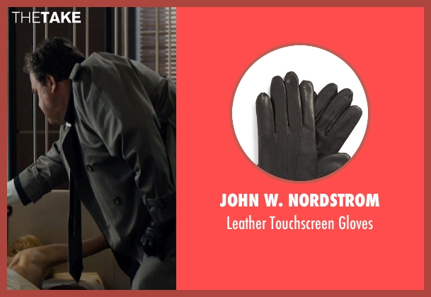 John W. Nordstrom black gloves from The Loft seen with Eric Stonestreet (Marty Landry)