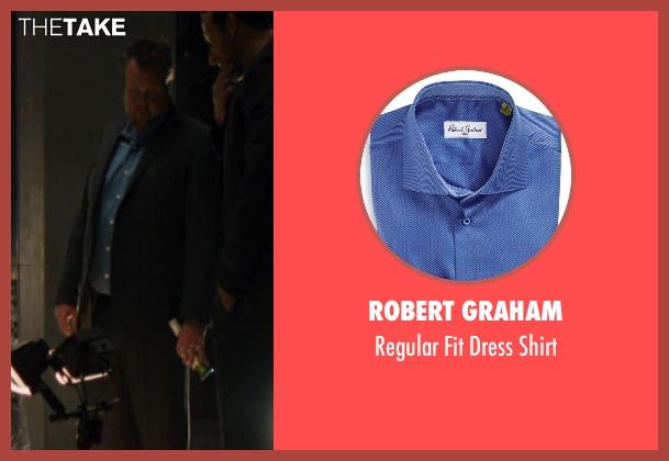 Robert Graham blue shirt from The Loft seen with Eric Stonestreet (Marty Landry)