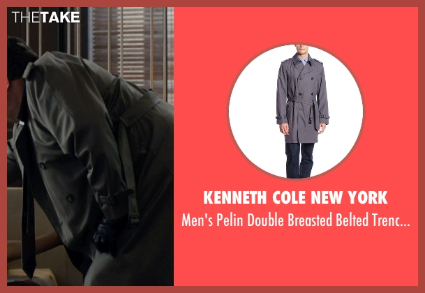 Kenneth Cole New York gray coat from The Loft seen with Eric Stonestreet (Marty Landry)