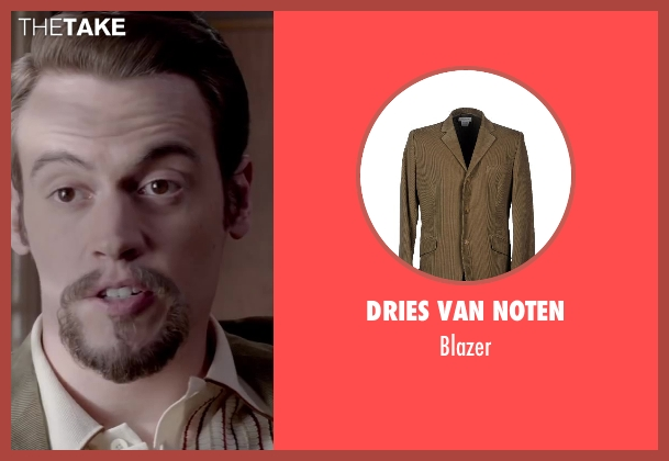 DRIES VAN NOTEN beige blazer from Jersey Boys seen with Erich Bergen (Bob Gaudio)