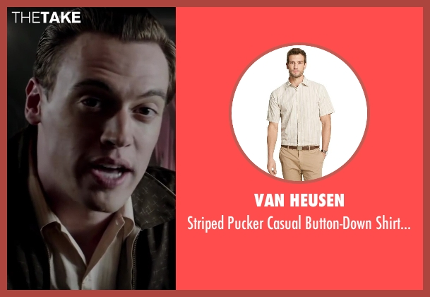 Van Heusen beige men from Jersey Boys seen with Erich Bergen (Bob Gaudio)