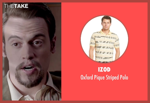 Izod beige polo from Jersey Boys seen with Erich Bergen (Bob Gaudio)