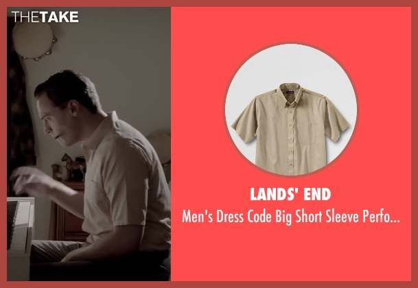 LANDS' END beige shirt from Jersey Boys seen with Erich Bergen (Bob Gaudio)