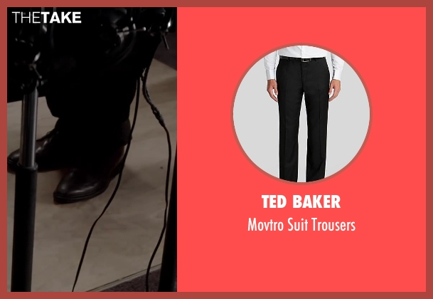 Ted Baker black trousers from Jersey Boys seen with Erich Bergen (Bob Gaudio)