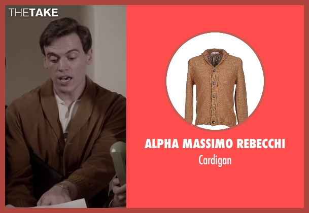 ALPHA MASSIMO REBECCHI brown cardigan from Jersey Boys seen with Erich Bergen (Bob Gaudio)