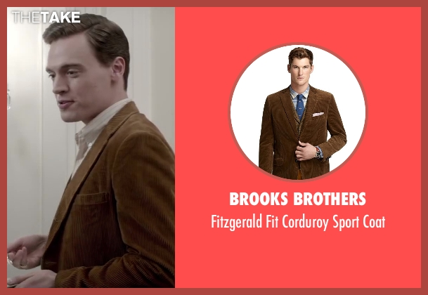 Brooks Brothers brown coat from Jersey Boys seen with Erich Bergen (Bob Gaudio)
