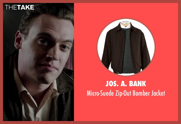 Jos. A. Bank brown jacket from Jersey Boys seen with Erich Bergen (Bob Gaudio)
