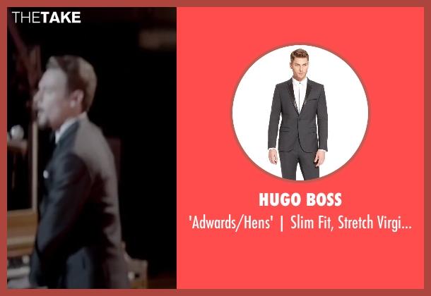 HUGO BOSS gray trim from Jersey Boys seen with Erich Bergen (Bob Gaudio)