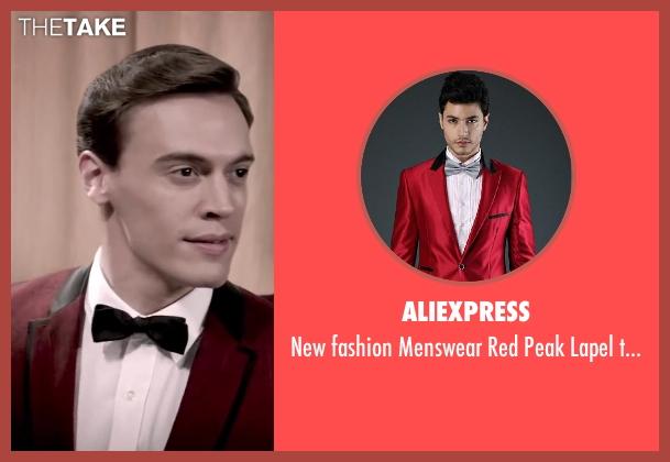 Aliexpress red tuxedo from Jersey Boys seen with Erich Bergen (Bob Gaudio)