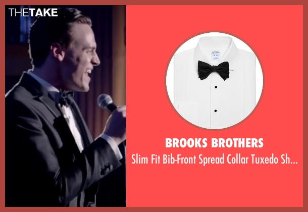 BROOKS BROTHERS white shirt from Jersey Boys seen with Erich Bergen (Bob Gaudio)