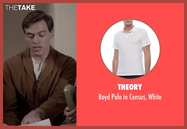 Theory white white from Jersey Boys seen with Erich Bergen (Bob Gaudio)