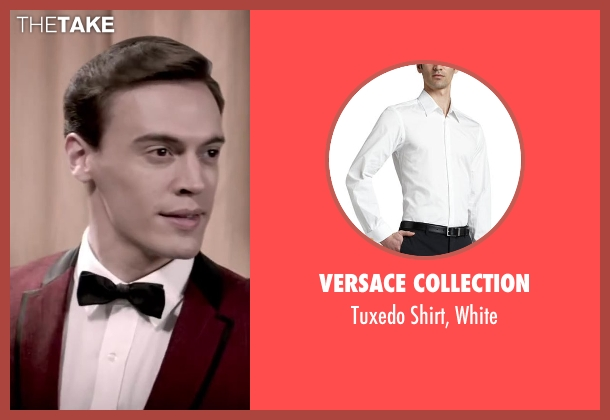 Versace Collection white white from Jersey Boys seen with Erich Bergen (Bob Gaudio)