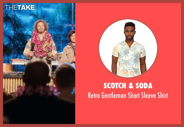Scotch & Soda beige shirt from Silicon Valley seen with Erlich Bachman (T.J. Miller)