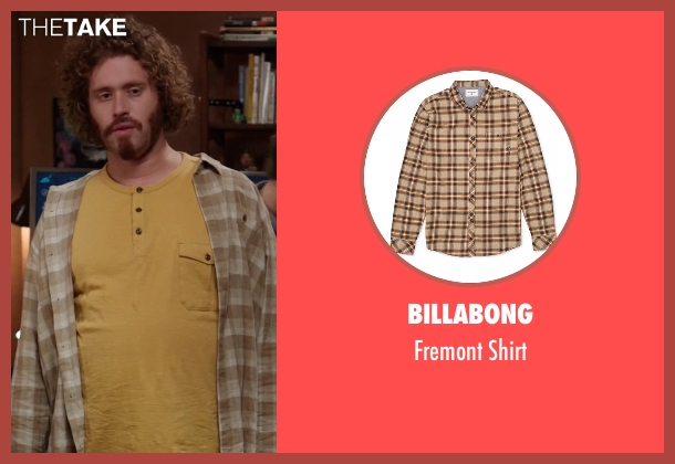Billabong beige shirt from Silicon Valley seen with Erlich Bachman (T.J. Miller)