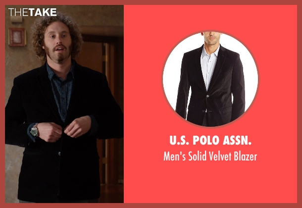 U.S. Polo Assn.  black blazer from Silicon Valley seen with Erlich Bachman (T.J. Miller)