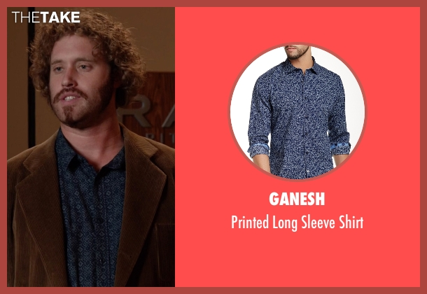 Ganesh blue shirt from Silicon Valley seen with Erlich Bachman (T.J. Miller)
