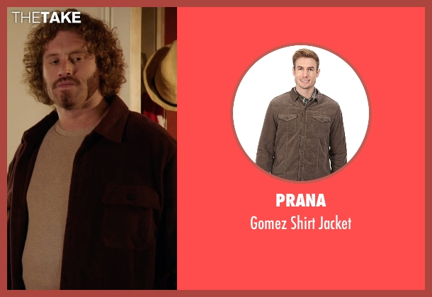 Prana brown jacket from Silicon Valley seen with Erlich Bachman (T.J. Miller)