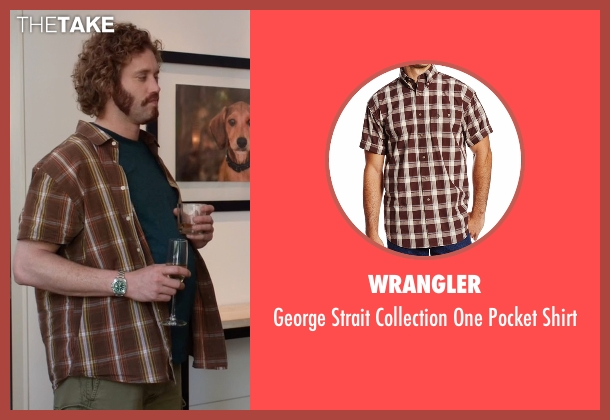 Wrangler brown shirt from Silicon Valley seen with Erlich Bachman (T.J. Miller)